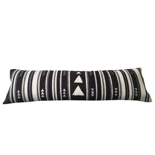 Flecha Black & Grey Wool Lumbar Pillow Cover
