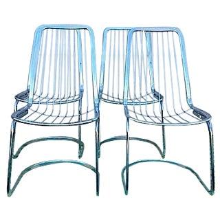 Cidue Vincenca Chrome Wire Chairs - Set of 4