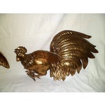 Image of Vintage 1960s Fighting Metal Roosters
