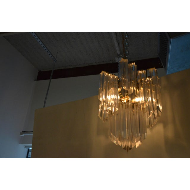 Lucite Waterfall Chandelier - Image 2 of 7
