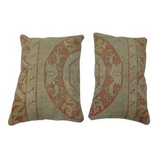 Turkish Oushak Rug Pillows - a Pair