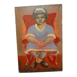 Girl Seated in Chair Portrait by Anders Aldrin