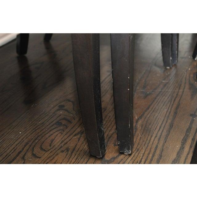 Velvet Upholstered Dining Chairs - Set of 6 - Image 7 of 8