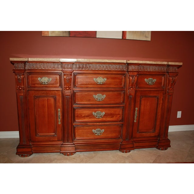 Torrean Marble Top Buffet - Image 2 of 11