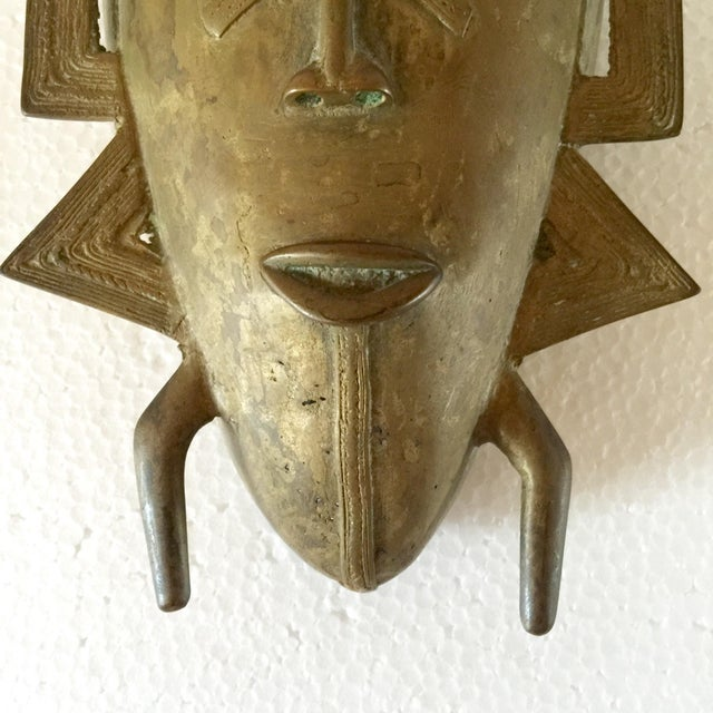 African Brass Mask - Image 3 of 6