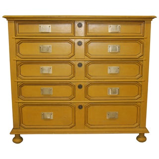 Vintage Asian Style Gold Dresser