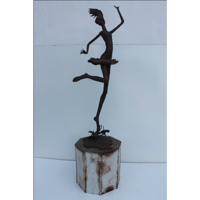 1970's Art Torch Cut Metal Floor Sculpture by Hambleton. - Image 11 of 11