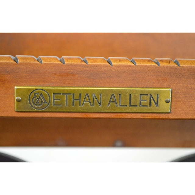 Ethan Allen French Country Style Glass & Scrolled Iron Top Coffee Table - Image 10 of 10