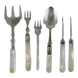 English & French Pearl Handled Servers - S/6