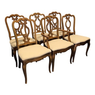 Vintage Thomasville Mid-Century Era French Country Style Dining Chairs - Set of 6