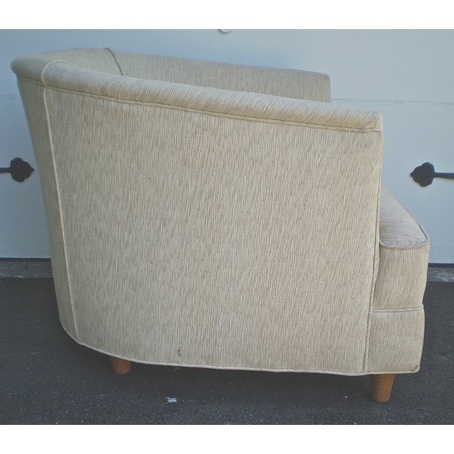 Barrel Club Chairs w/ French Fabric Pillows - Pair - Image 3 of 5