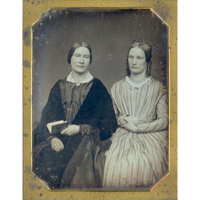 Antique 1/2 Plate Daguerreotype Portrait Sisters - Image 1 of 4