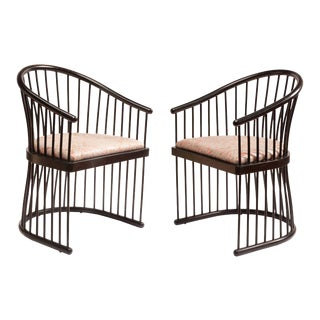 """Jack Lenor Larson """"Cage"""" Armchairs - A Pair"""