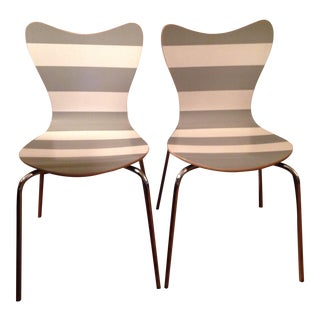 West Elm Scoop Back Dining Chairs - A Pair