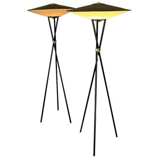 Lightolier Moe Atomic Floor Lamps - A Pair