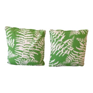 Vintage Tropical Palm Leaf Pillows - A Pair