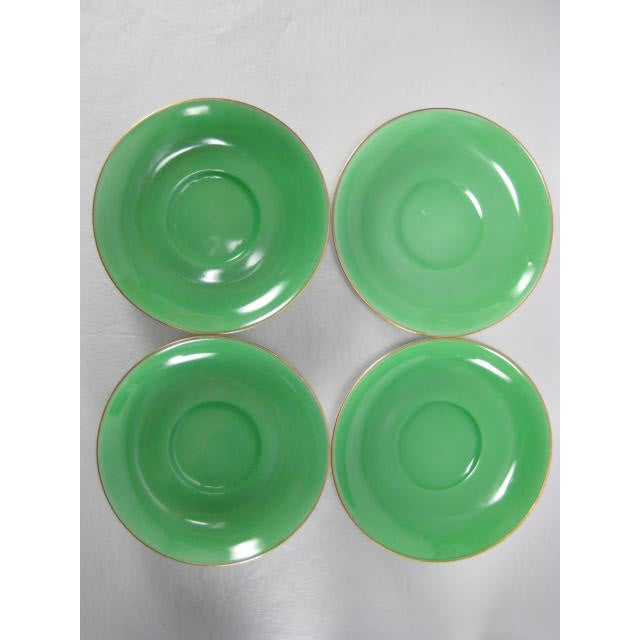 Green Demitasse Cups & Saucers by Morimura - 8 Pieces - Image 5 of 11