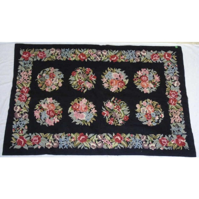 Floral Aubusson French Style Rug - 3′8″ × 5′8″ - Image 2 of 4