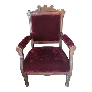 Victorian Burgundy East Lake Chair Large