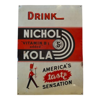 1940's Nichol Cola Advertising Sign