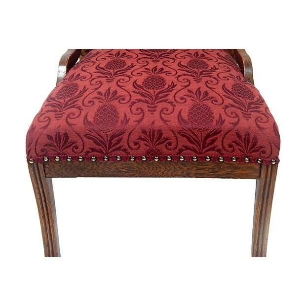 Oak Merlot Burgandy Side Chair - Image 5 of 5