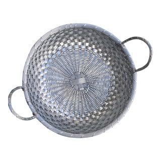 Large Silver Market Basket