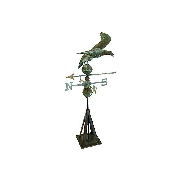 Vintage Copper Eagle Weathervane with Stand - Image 2 of 7