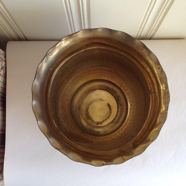 Vintage Etched Metal Brass Vessel - Image 4 of 9