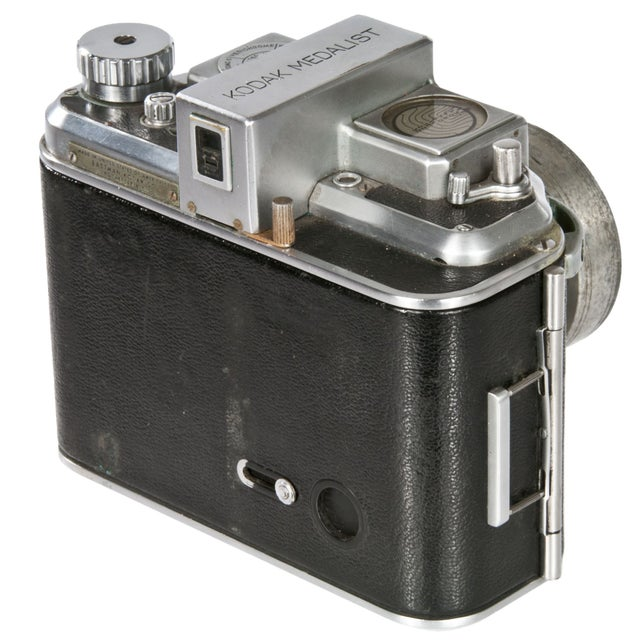 Image of 1940's Kodak Medalist Camera With Flash & Case