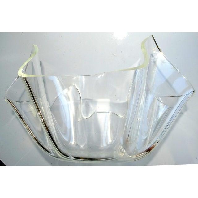 Mid-Century Modern Lucite Handkerchief Bowl - Image 3 of 9