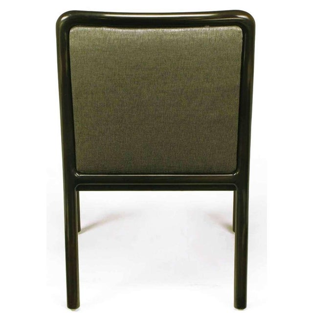 Four Martin Brattrud Ebonized & Upholstered Arm Chairs. - Image 6 of 9