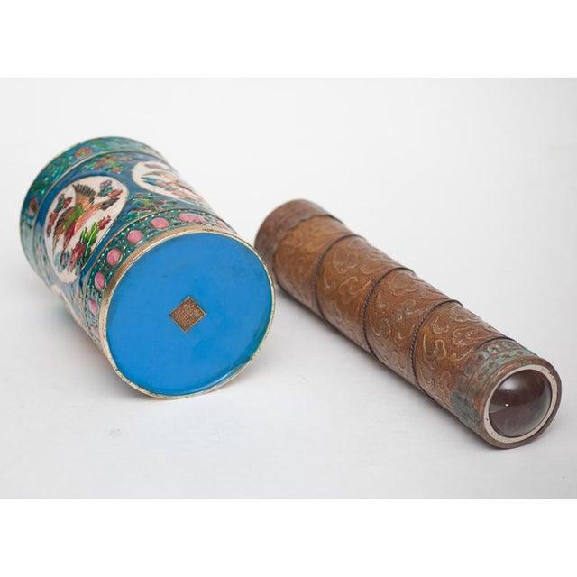 Vintage Peking Brush Pot & Kaleidoscope - Image 9 of 11