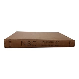 Vintage Book, NBC Handbook of Pronunciation