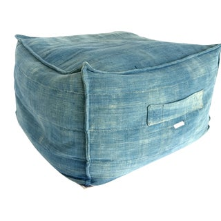 African Textile Indigo Floor Pillow