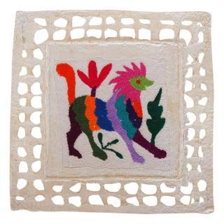 Otomi Embroidered Folk Art - Lion