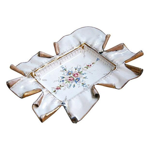 Vintage 1950s French Hand-Painted Catchall Tray - Image 1 of 7