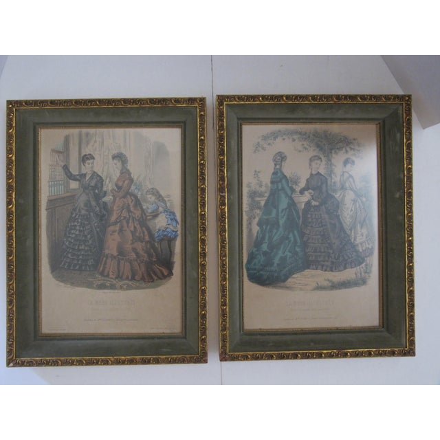 Antique French Fashion Prints - A Pair - Image 2 of 8