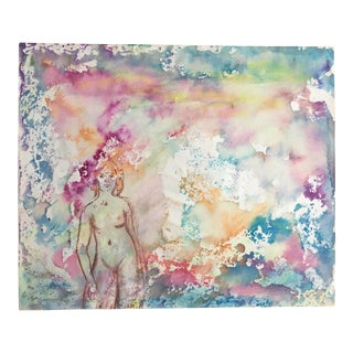 Alfred DiCesare Nude Pastel Fluorescents Painting