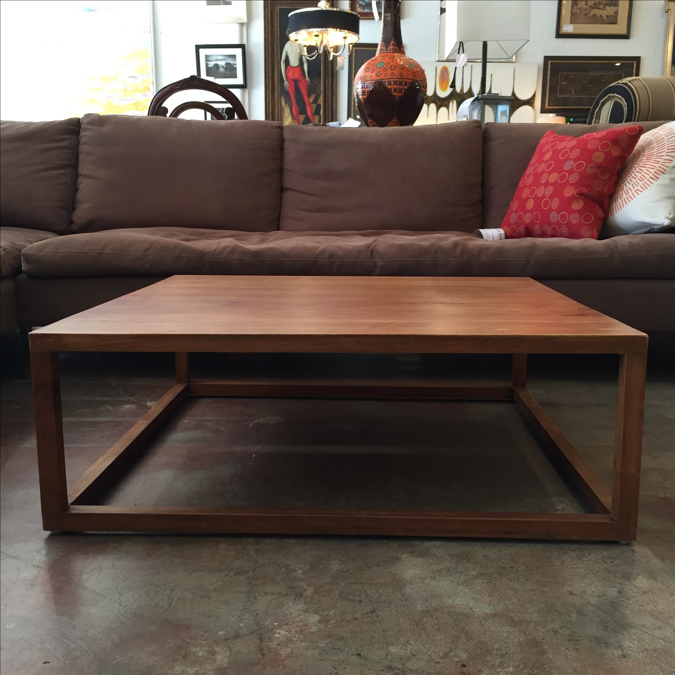 Furniture Consignment Los Angeles Modern Wood Coffee Table | Chairish