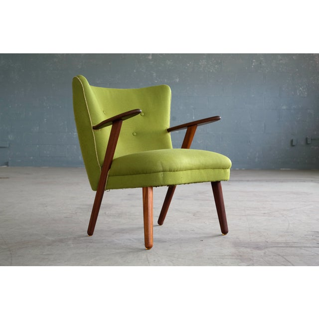 Image of Danish Mid-Century Easy Chair in the Style of Madsen and Schubel