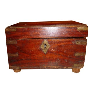 Antique Wooden Campaign Box