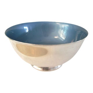 Vintage Silver & Powder-Blue Pearlescent Bowl