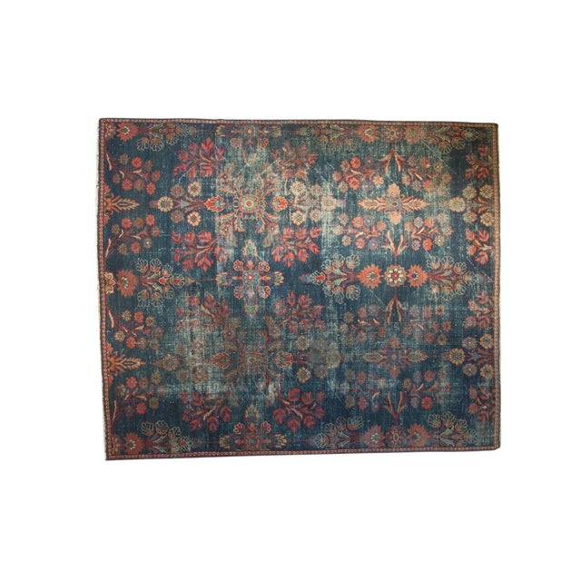 "Vintage Mahal Square Carpet - 6'4"" x 7'7"" - Image 1 of 10"