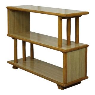 Vintage Rattan Side Table/Bookshelf