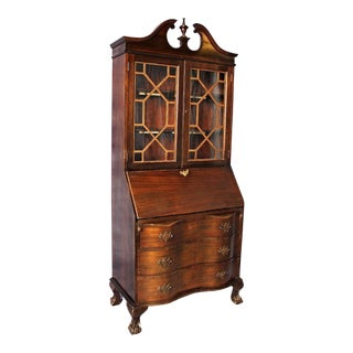 Maddox Antique Mahogany Secretary Desk