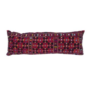 Vintage Red Mirrored Pillow