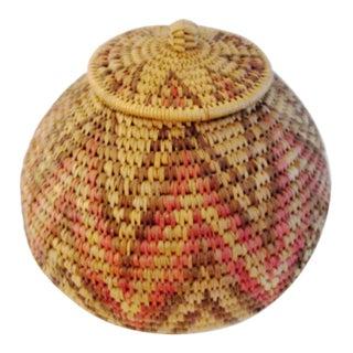 African Zulu Herb Basket