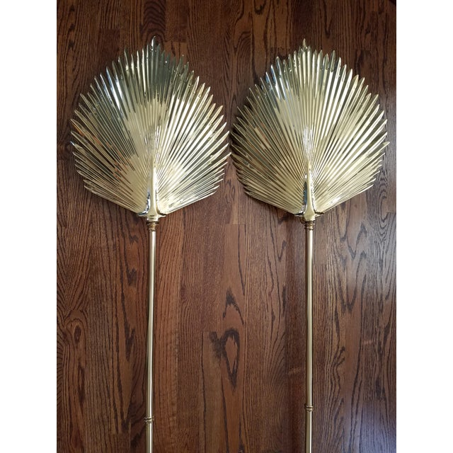 Chapman Brass Wall Sconces : Chapman Brass Palm Frond Wall Sconces - A Pair Chairish