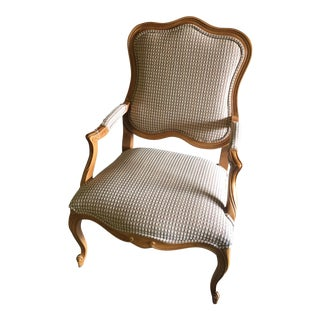 Traditional Beige Upholstered Arm Chair by Ethan Allen
