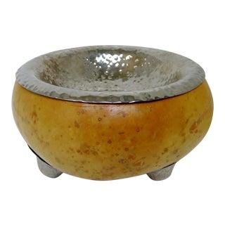 Decorative Gourd & Metal Bowl